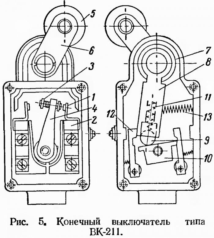 Концевой выключатель — устройство прибора и принцип действия