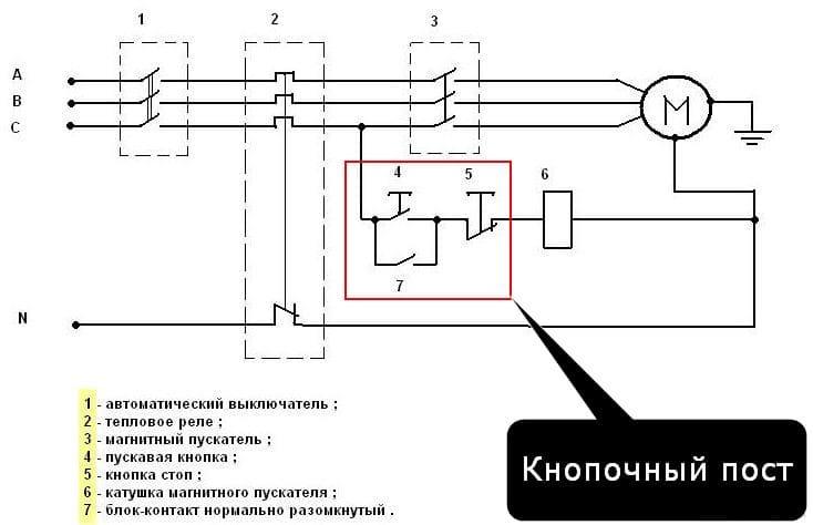 Магнитный пускатель.  схемы подключения пускателей.