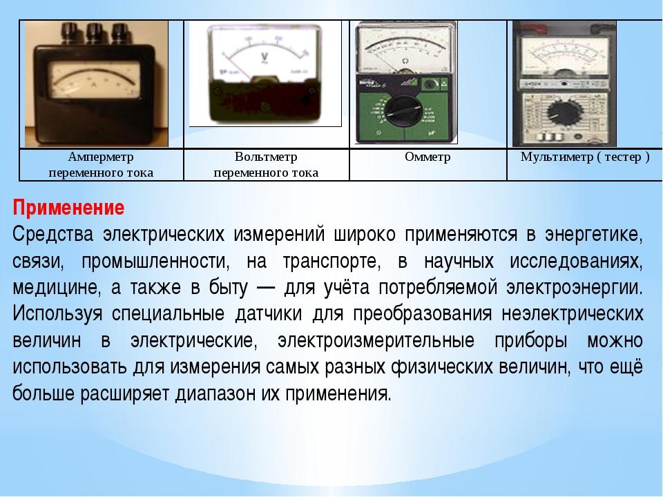§ 34. электроизмерительные приборы