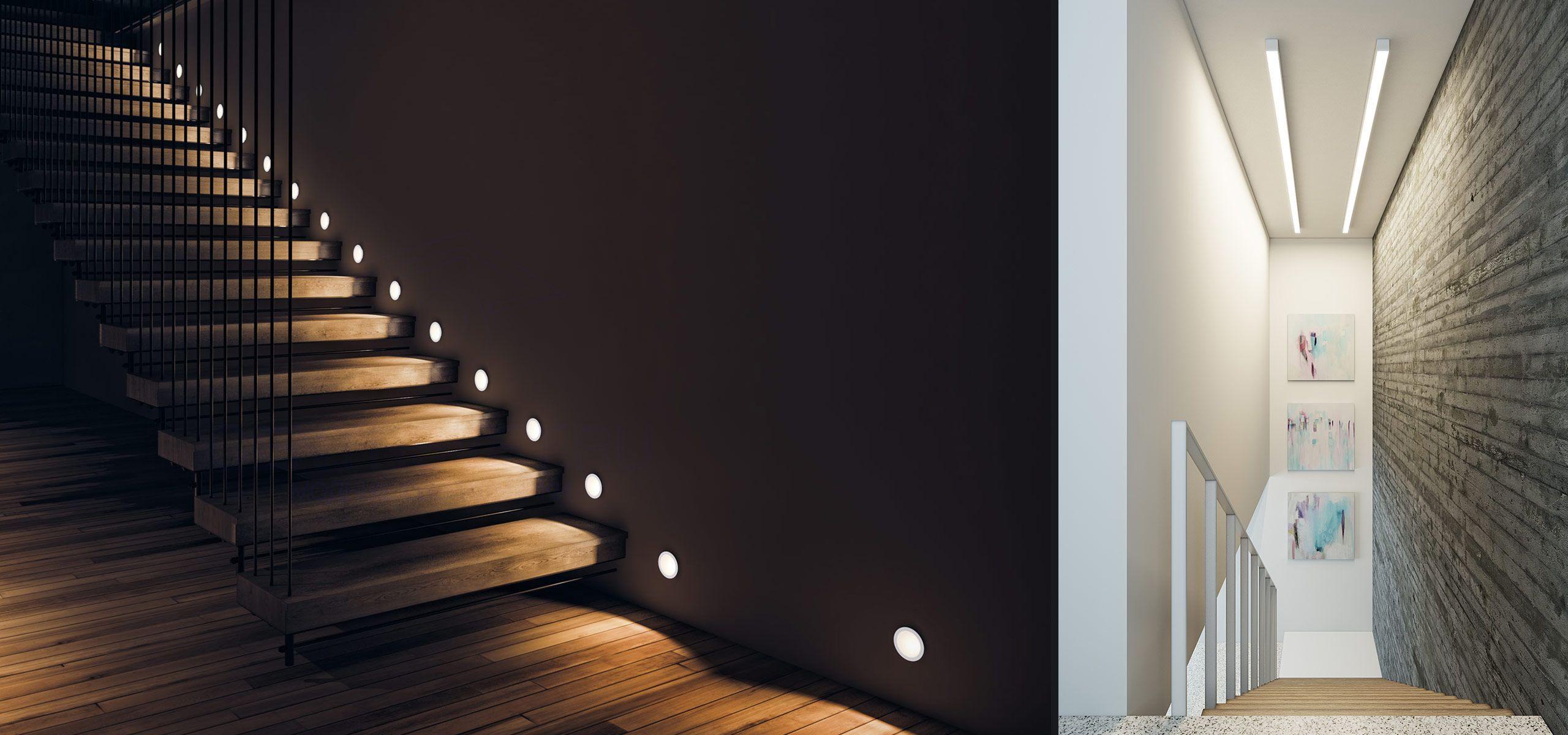 Способы подсветки ступеней лестницы в доме