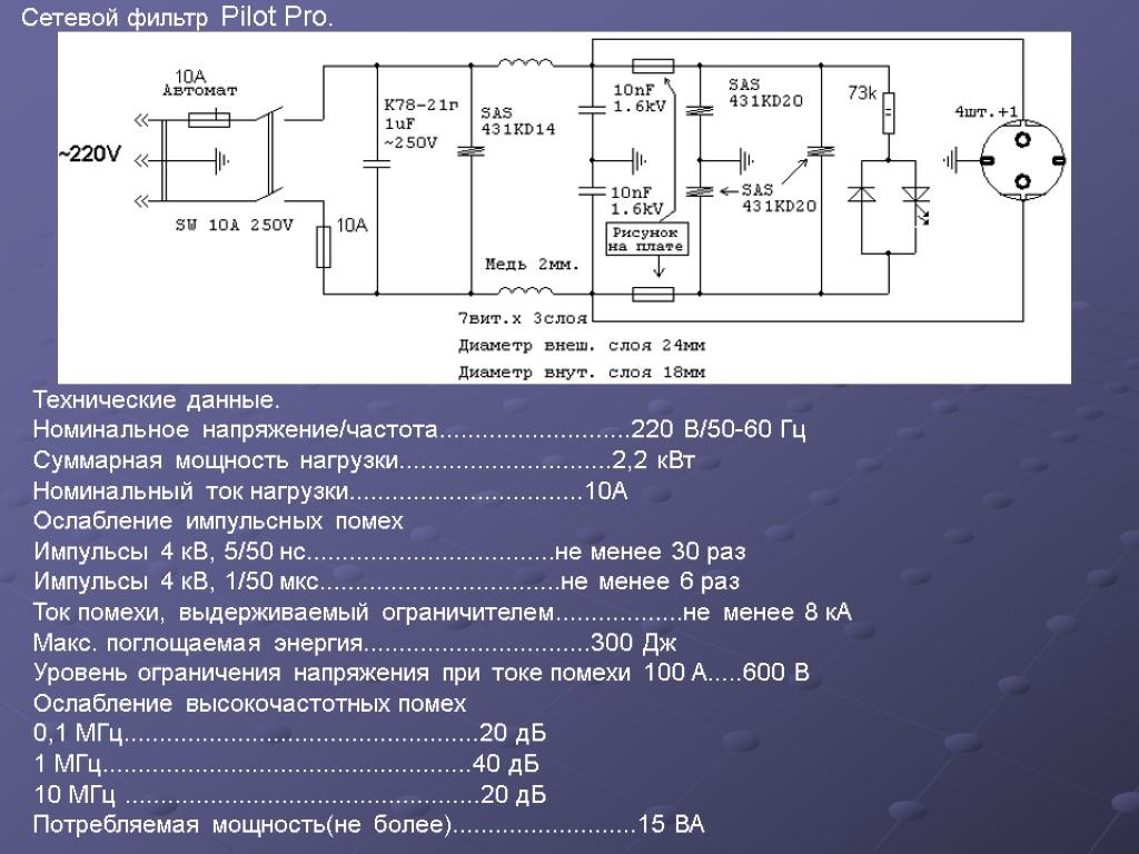 Сетевой фильтр и качество напряжения бытовой электропроводки