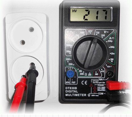Как измерить напряжение мультиметром