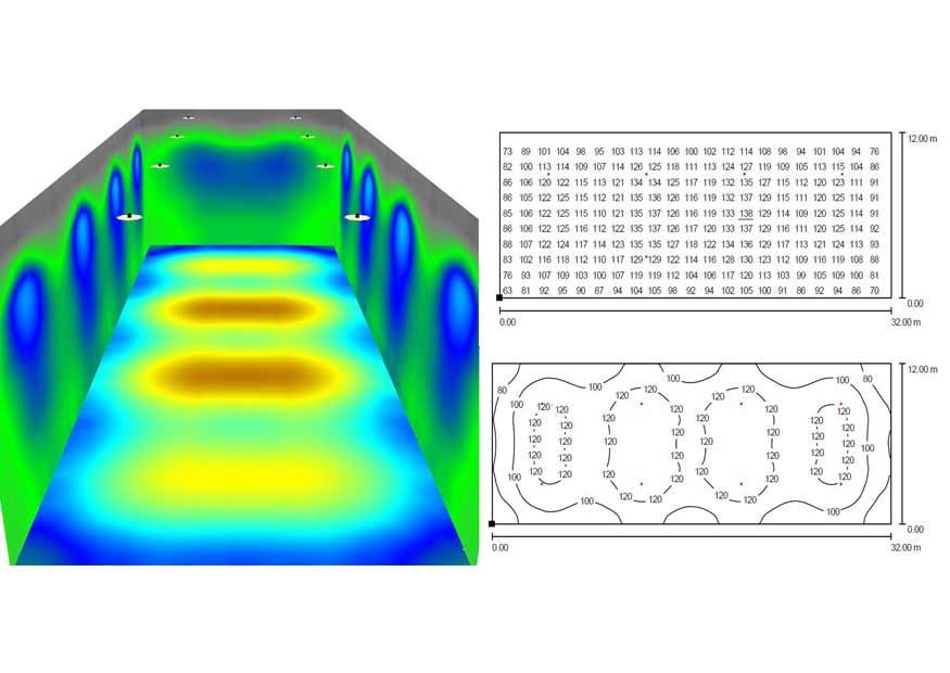 Производим расчёт освещённости помещения