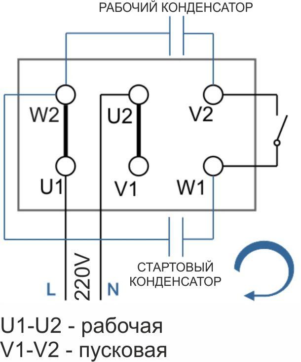 Как подобрать и подключить конденсатор для трехфазного двигателя