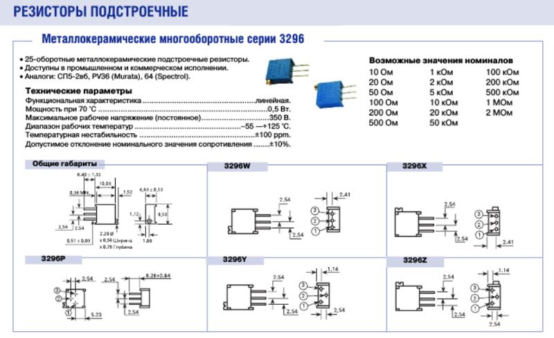 Маркировки и буквенное обозначение советских резисторов