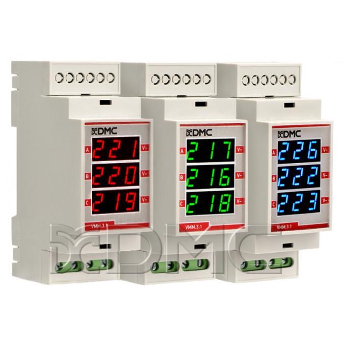 Амперметр/вольтметр (вольтамперметр, ампервольтметр) на дин рейку вар-м01 ас100-450в