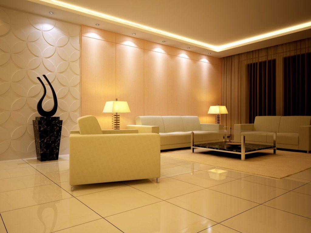 Потолок с подсветкой: виды по конструкции, источникам света, цвету, примеры в интерьере