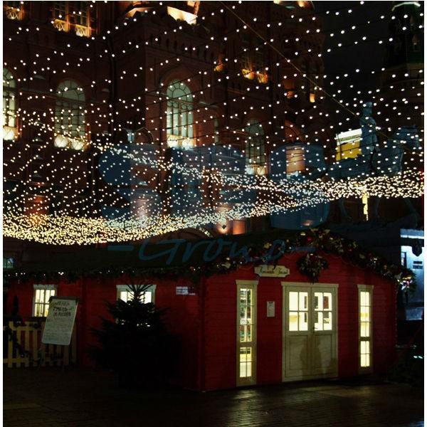 Уличные морозостойкие светодиодные гирлянды как возможность декорировать экстерьер