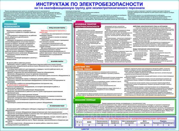 Инструкция присвоения 1 группы электробезопасности