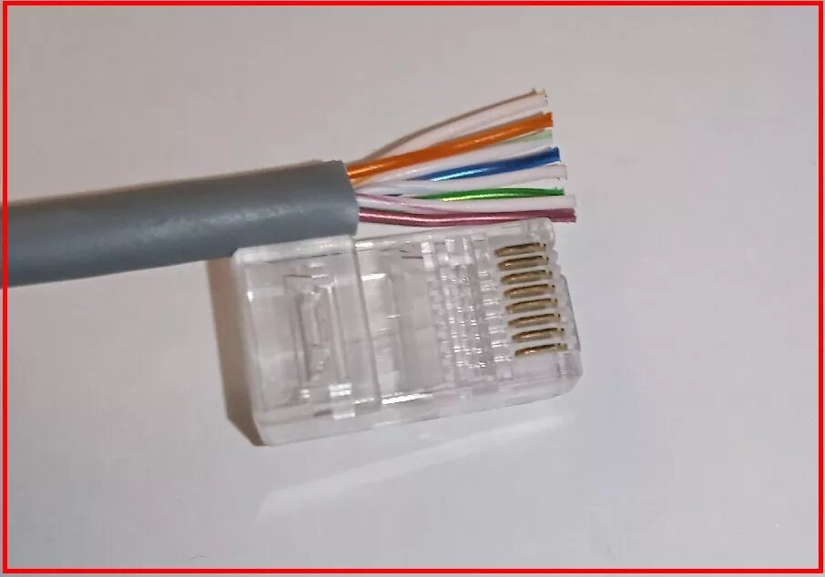 Как обжать вилку rj-45 на utp кабель витая пара без клещей