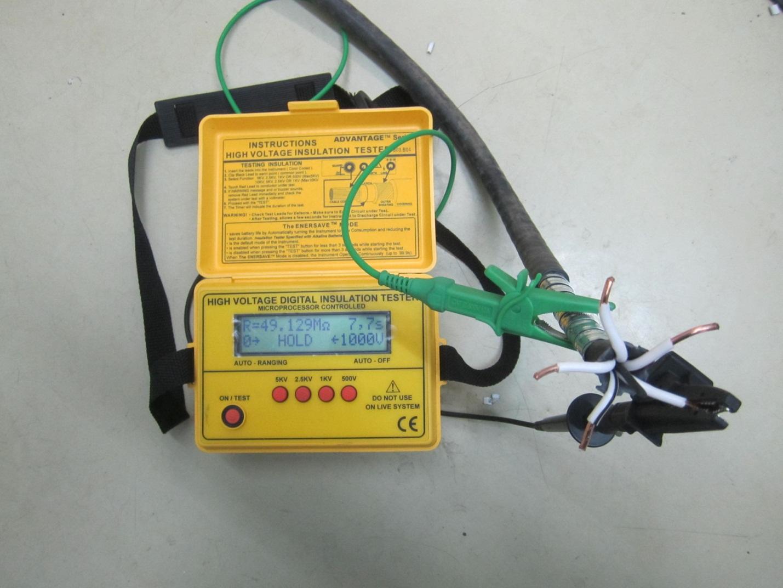 Как измерить сопротивление изоляции кабеля
