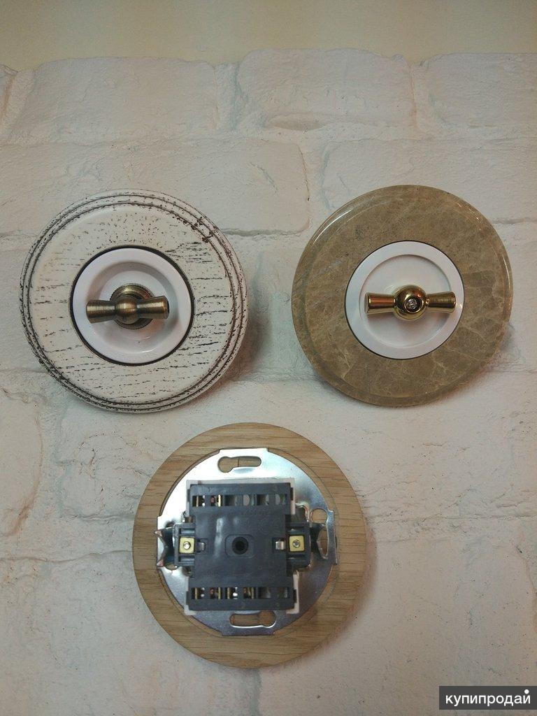 Наружная ретро-проводка в интерьере дома
