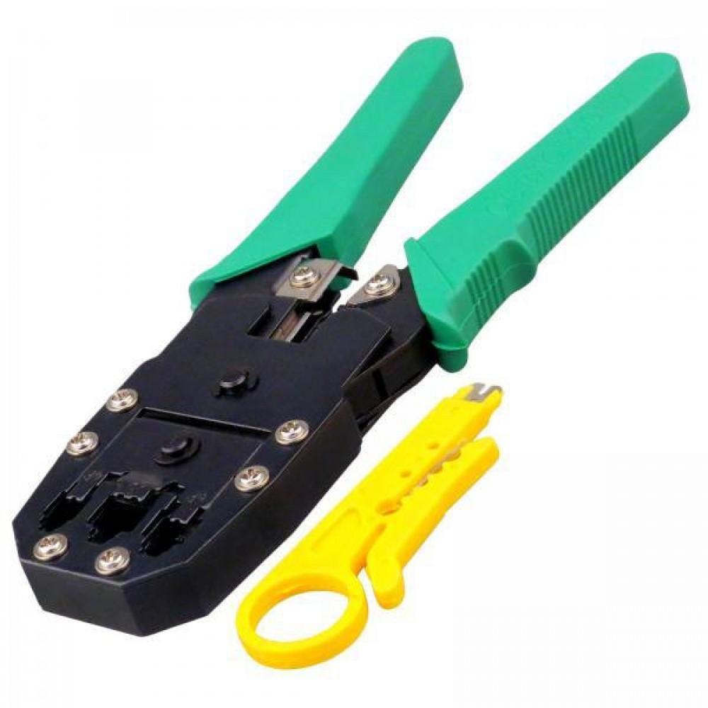 Как обжать сетевой кабель без инструмента (отверткой)