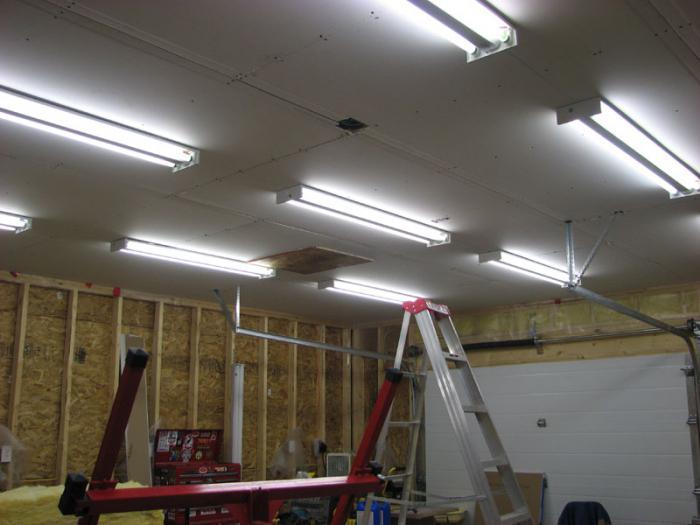 Правильное освещение в гараже своими руками