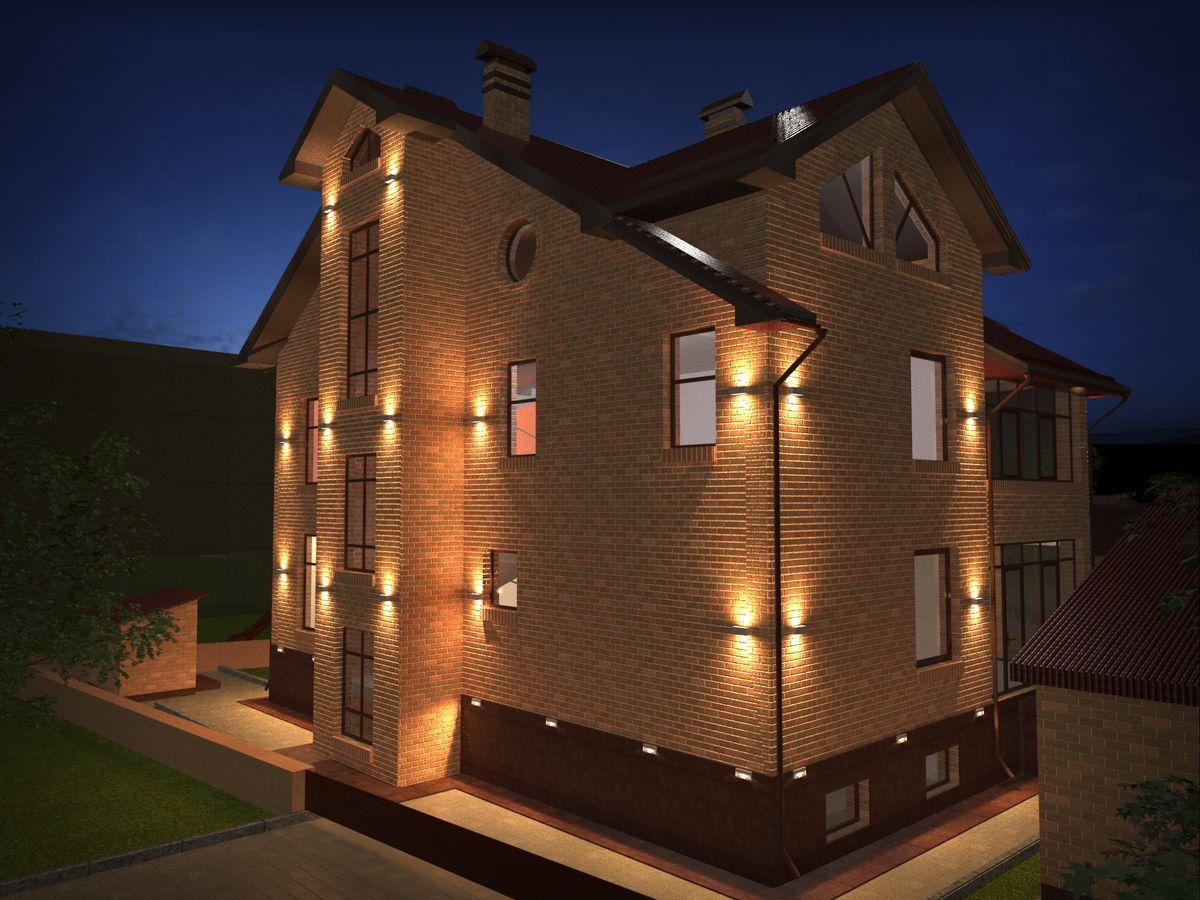 Подсветка фасадов: лучшие современные решения и грамотное размещение источников света (120 фото)