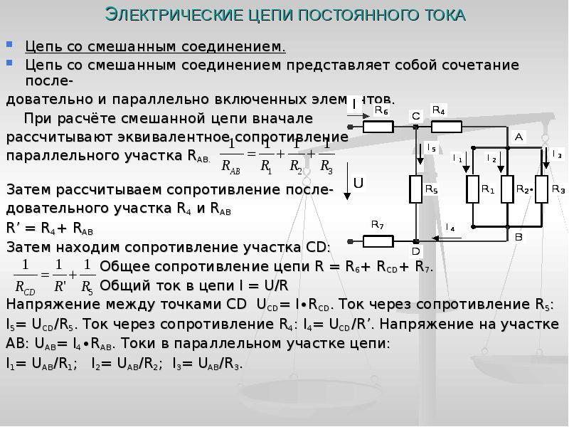Сопротивление электрической цепи.