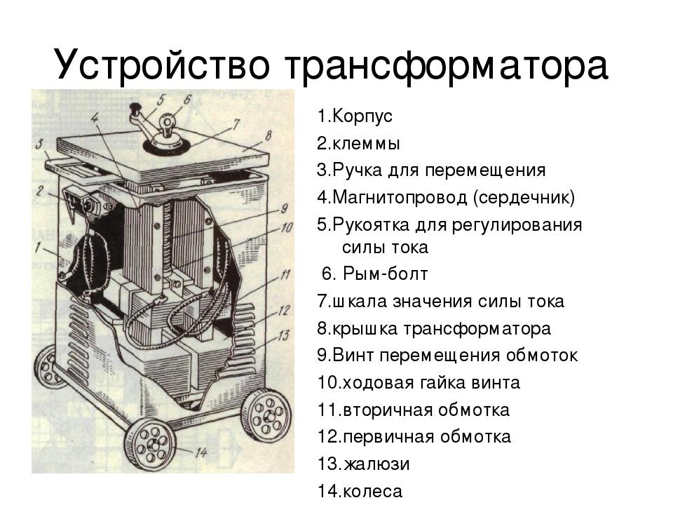 Особенности устройства сварочного трансформатора