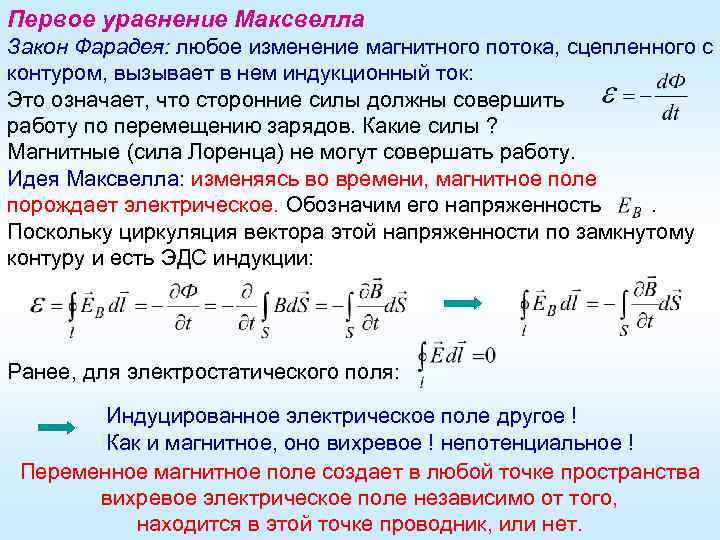 Закон электромагнитной индукции — формула