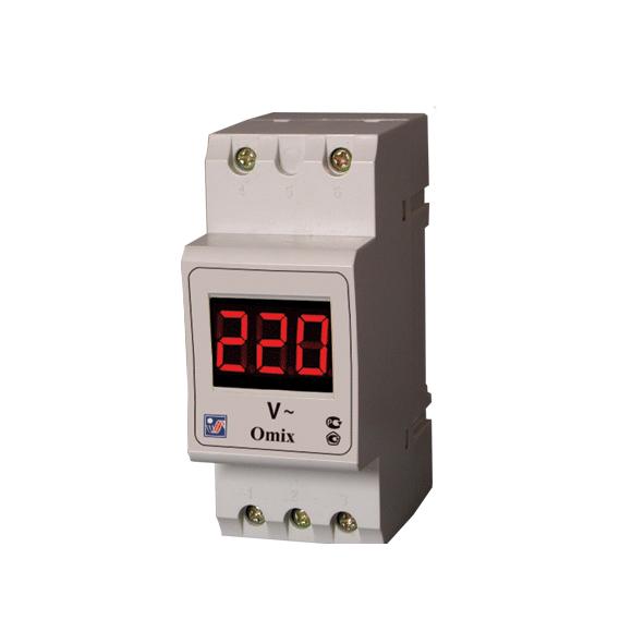 Амперметр/вольтметр (вольтамперметр, ампервольтметр) на дин рейку вар-м01-08 ас20-450в