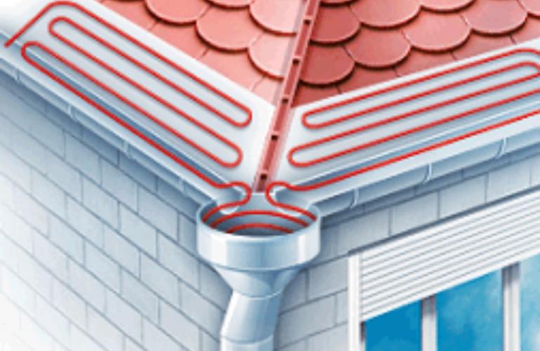 Выбор и монтаж греющего кабеля для водосточных труб и желоба