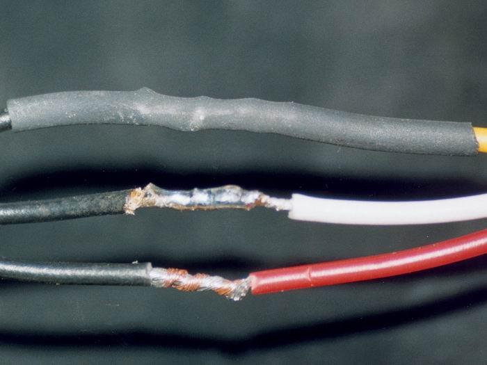 Как соединить два антенных провода
