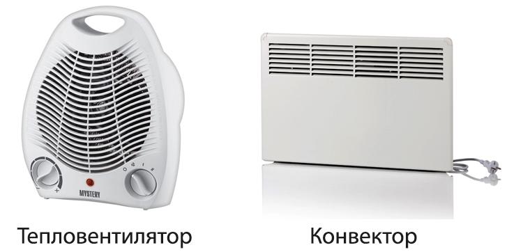Что лучше конвектор или тепловентилятор