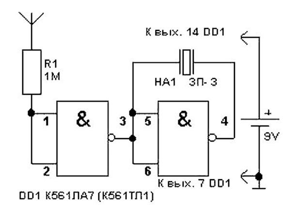 Поиск скрытой проводки сигнализатором «дятел»