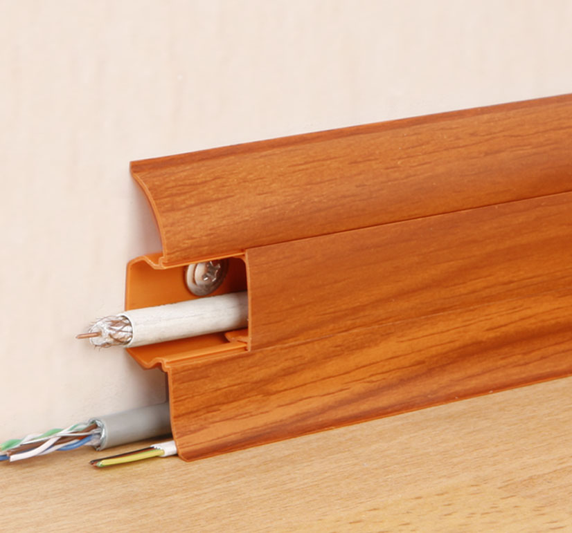 Виды, характеристики, правила монтажа плинтуса с кабель-каналом