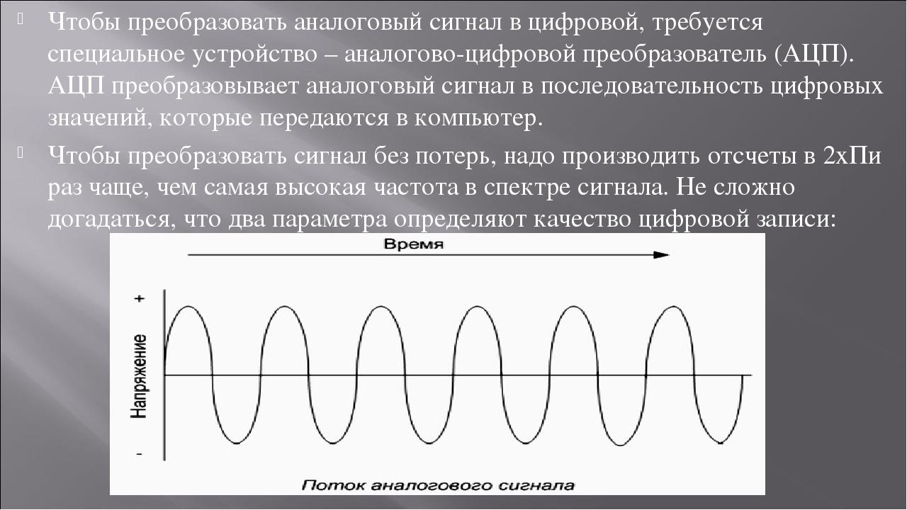 Чем отличаются аналоговый сигнал от цифрового — примеры использования