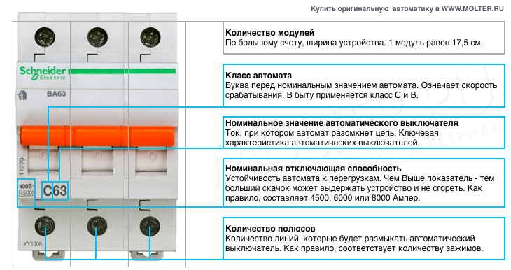 Автоматические выключатели и расцепители