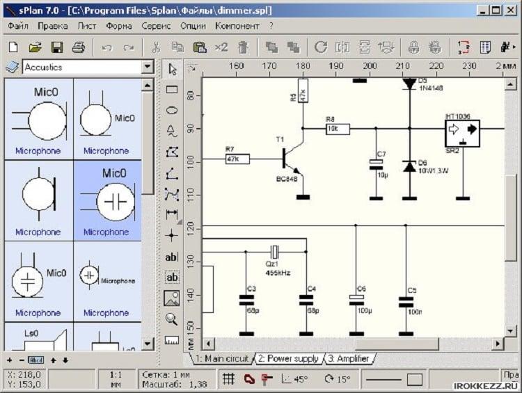 Черчение электрических схем в программе splan