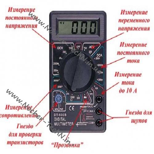 Как пользоваться мультиметром: инструкция по применению