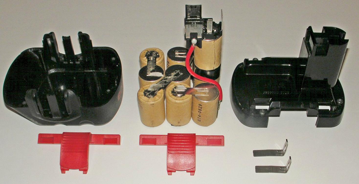 Замена аккумуляторов в шуруповерте